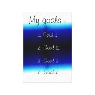 My Goals Canvas Print