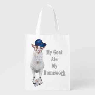 My Goat Ate My Homework Reusable Grocery Bag