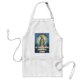 my god adult apron