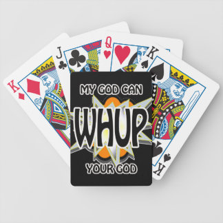 My God can WHUP your God Playing Cards