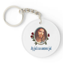 My God is an awesome god keychain