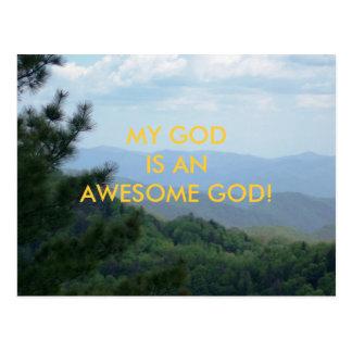 MY GOD IS AN AWESOME GOD! POSTCARD
