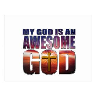 My God is an AWESOME GOD Postcard