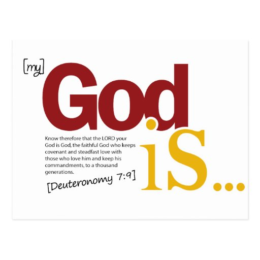 My God Is Postcard