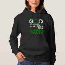 My God Is Stronger Than Cerebral Palsy Awareness Hoodie