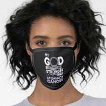 My God Is Stronger Than Stomach Cancer Awareness Face Mask