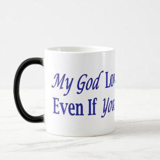 My God Loves You 11 Oz Magic Heat Color-Changing Coffee Mug