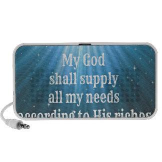 my God shall supply all my needs.jpg Notebook Speaker
