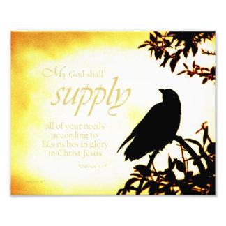 My God Shall Supply Photo Print