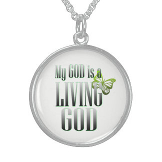 My God Sterling Silver Necklace