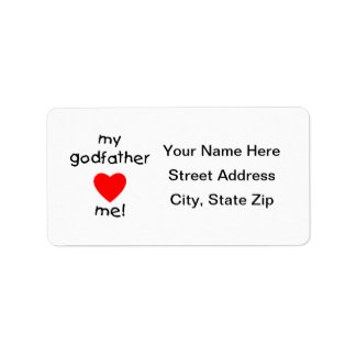 My Godfather Loves Me Label