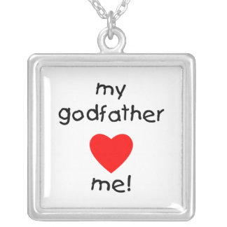 My Godfather Loves Me Square Pendant Necklace