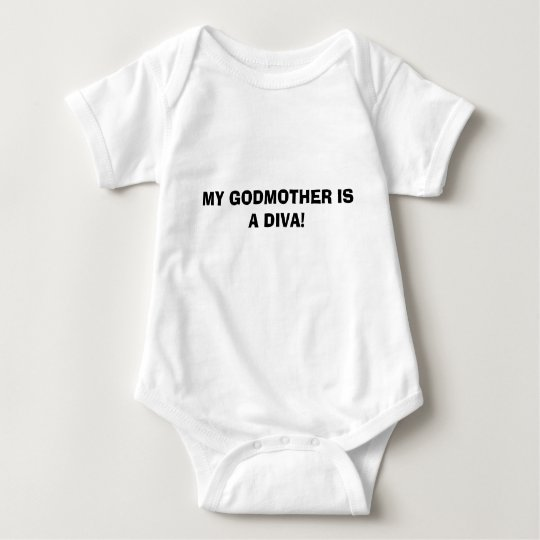 MY GODMOTHER IS A DIVA! BABY BODYSUIT