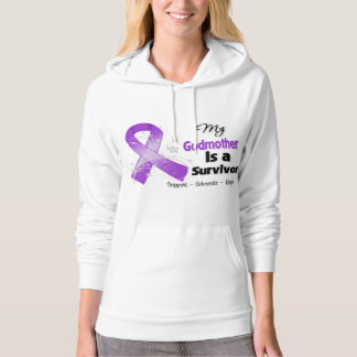 My Godmother is a Survivor Purple Ribbon Hooded Sweatshirt