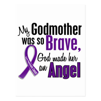My Godmother Is An Angel 1 Pancreatic Cancer Postcard