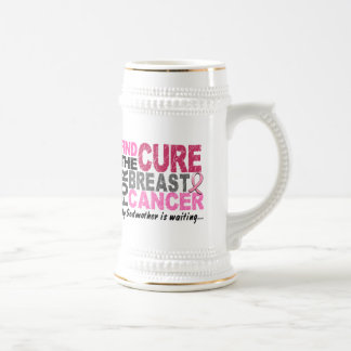My Godmother Is Waiting Breast Cancer 18 Oz Beer Stein