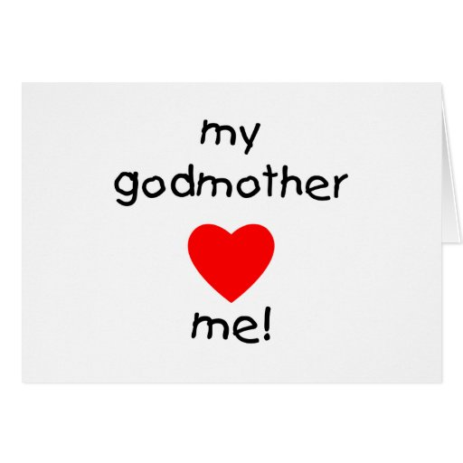 My Godmother Loves Me Stationery Note Card