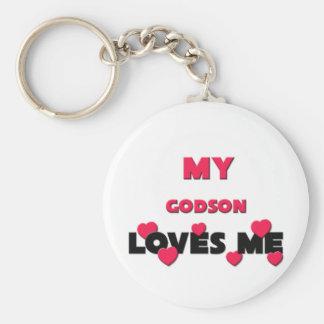 My Godson Loves Me Keychain