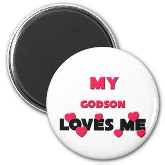 My Godson Loves Me Magnets