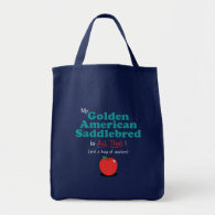 My Golden American Saddlebred is All That! Tote Bags