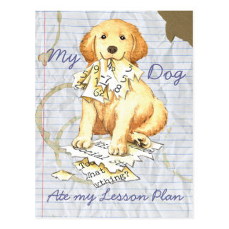 My Golden Ate My Lesson Plan Postcards