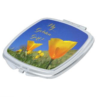 My Golden Girl! gifts Poppy Flowers Moms Sweetie Makeup Mirrors