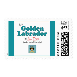 My Golden Labrador is All That! Postage Stamp