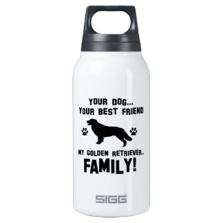 My golden retriever family, your dog just a best f 10 oz insulated SIGG thermos water bottle