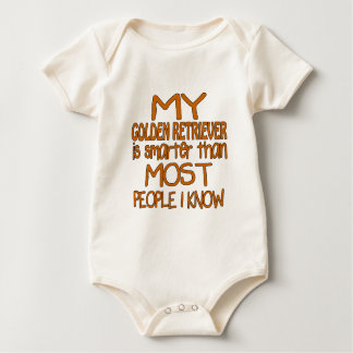 MY GOLDEN RETRIEVER IS SMARTER THAN MOST PEOPLE I BABY BODYSUIT
