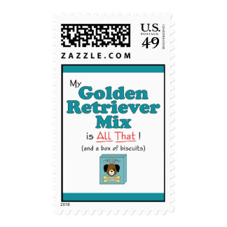 My Golden Retriever Mix is All That! Postage Stamp