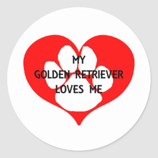 my goldie loves me classic round sticker