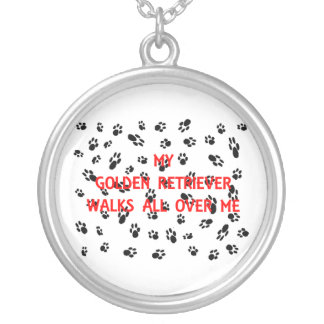 my goldie walks all over me silver plated necklace
