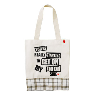 My Good Side Zazzle HEART Tote Bag