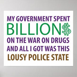 My Gov't Spent Billion$ on the War on Drugs... Poster