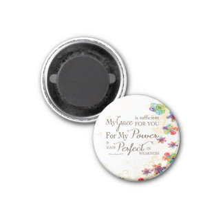 My Grace is Sufficient 1 Inch Round Magnet