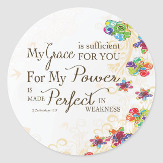 My Grace is Sufficient Classic Round Sticker