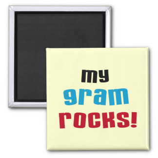 My Gram Rocks T-shirts and Gifts Magnets
