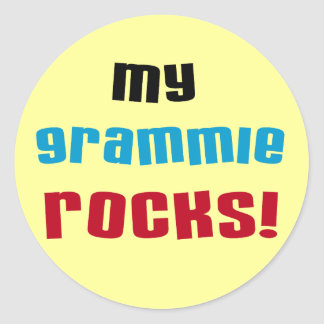 My Grammie Rocks T shirts and Gifts Classic Round Sticker