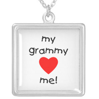my grammy loves me square pendant necklace