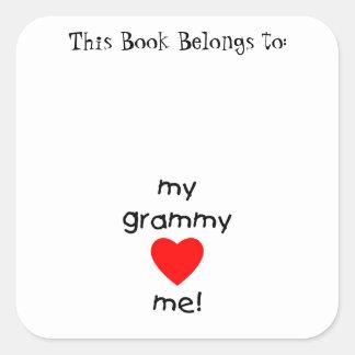 my grammy loves me square sticker