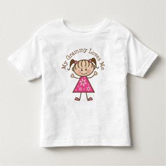 My Grammy Loves Me Stick Figure Toddler T-shirt