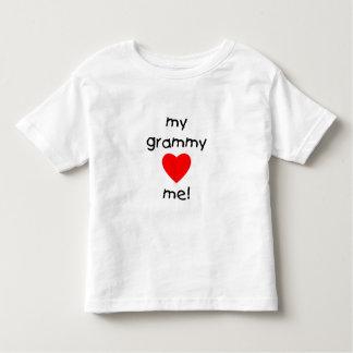 my grammy loves me toddler t-shirt
