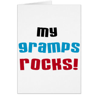 My Gramps Rocks T-shirts and Gifts Card