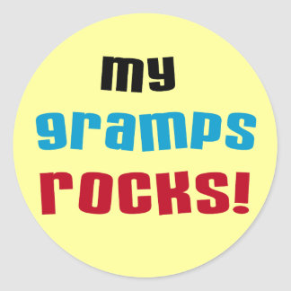 My Gramps Rocks T-shirts and Gifts Classic Round Sticker