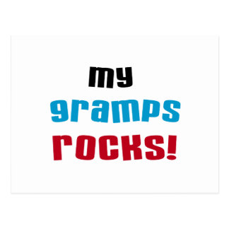 My Gramps Rocks T-shirts and Gifts Postcard