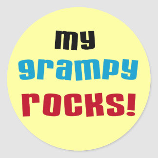 My Grampy Rocks T shirts and Gifts Classic Round Sticker
