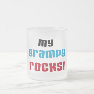 My Grampy Rocks T shirts and Gifts Frosted Glass Coffee Mug