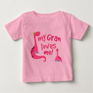 My Gran Loves Me Dinosaur Baby T-Shirt