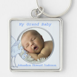 My Grand Baby Boy Baby Photo Key Chain