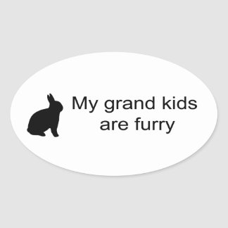 My Grand Kids Are Furry (Rabbit) Sticker